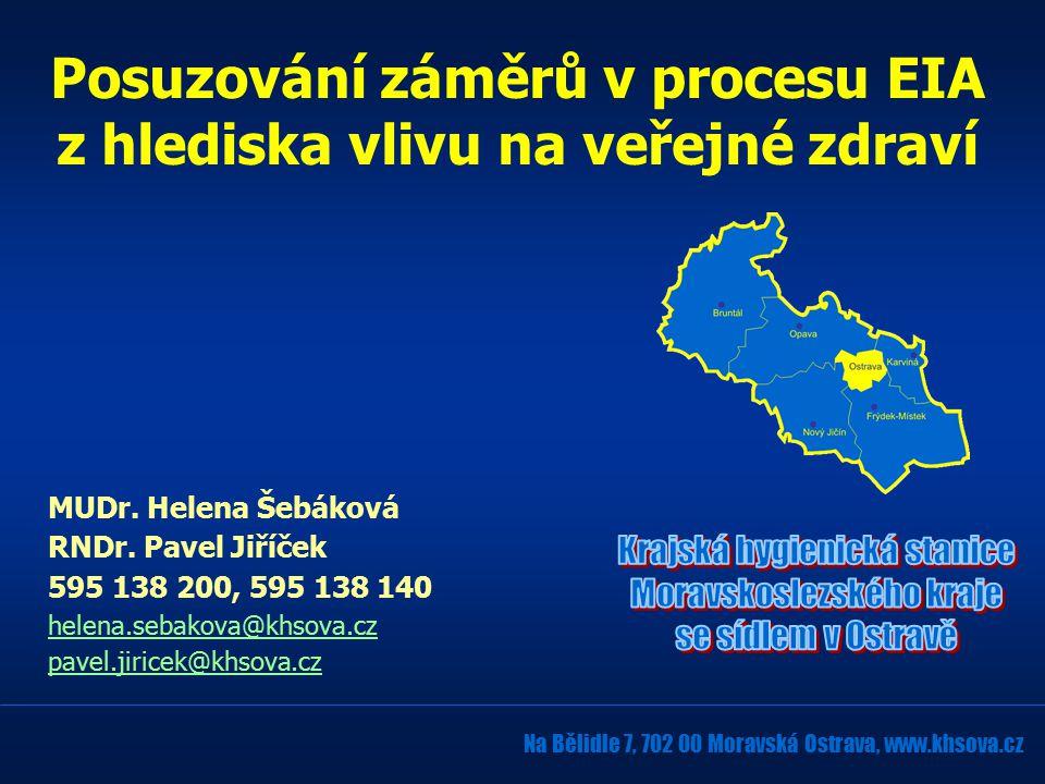 MUDr. Helena Šebáková RNDr.