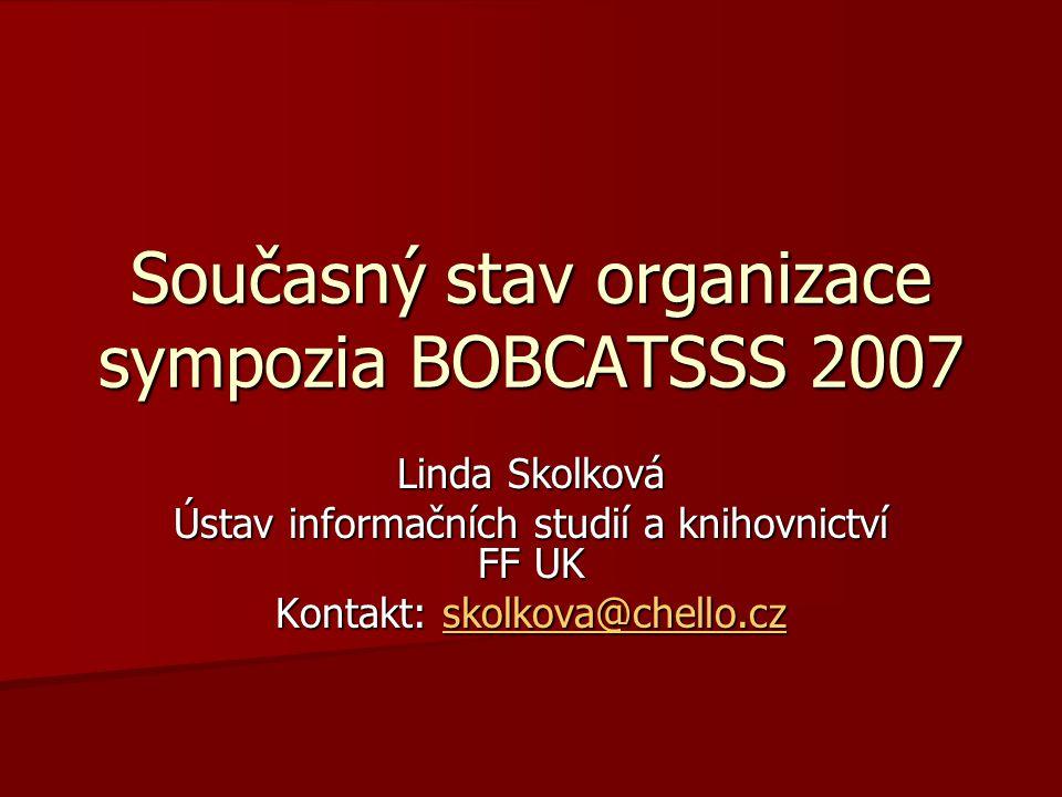 Co je BOBCATSSS sympozium pod záštitou EUCLID (od r.