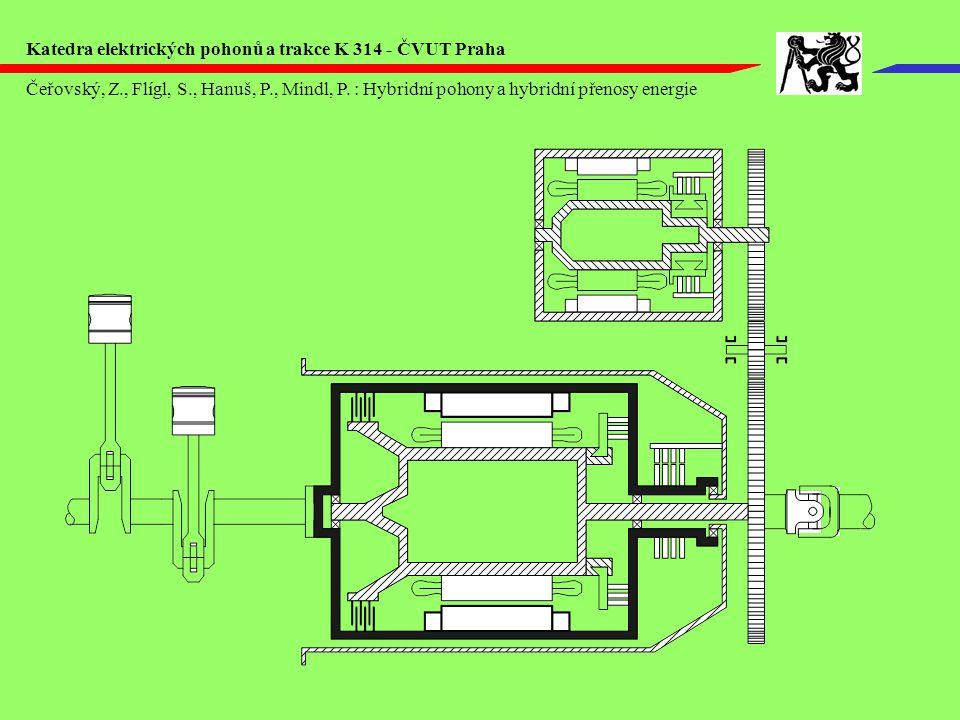 Čeřovský, Z., Flígl, S., Hanuš, P., Mindl, P. : Hybridní pohony a hybridní přenosy energie Katedra elektrických pohonů a trakce K 314 - ČVUT Praha