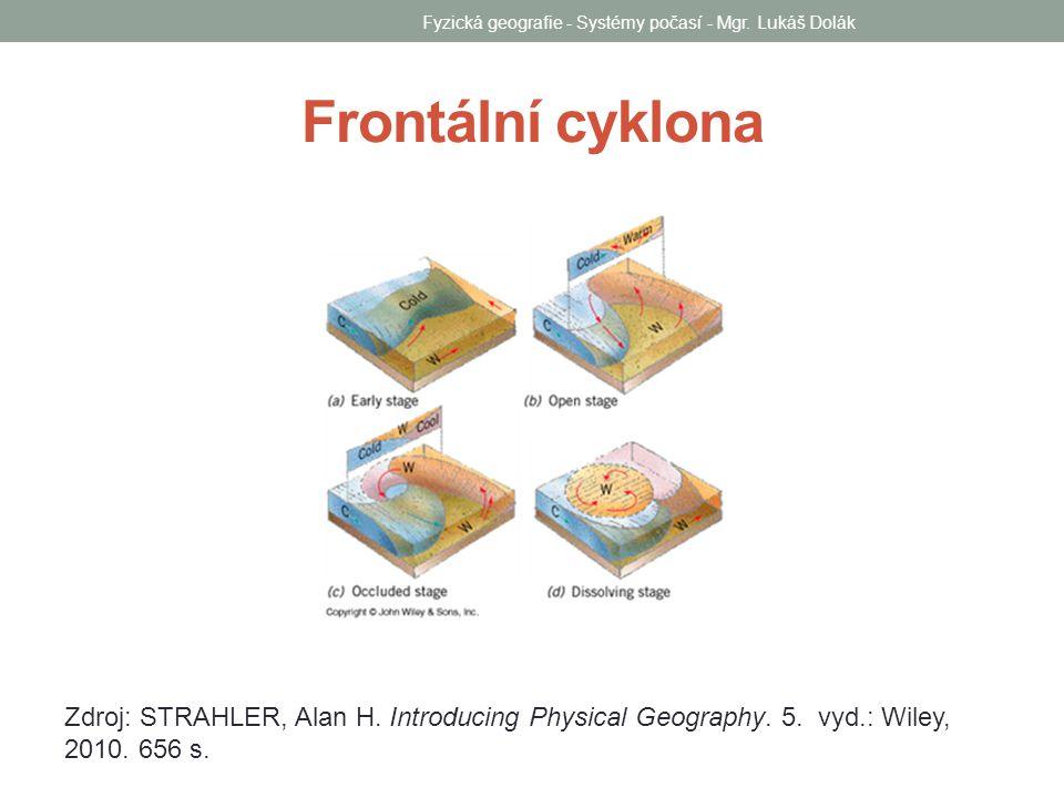 Frontální cyklona Fyzická geografie - Systémy počasí - Mgr. Lukáš Dolák