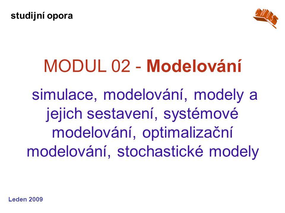 Leden 2009 MODUL 03 - Metody 1 teorie rozhodování, řešení rozhodovacích procesů, lineární a celočíselné programování, Simplexová metoda, přiřazovací problém studijní opora