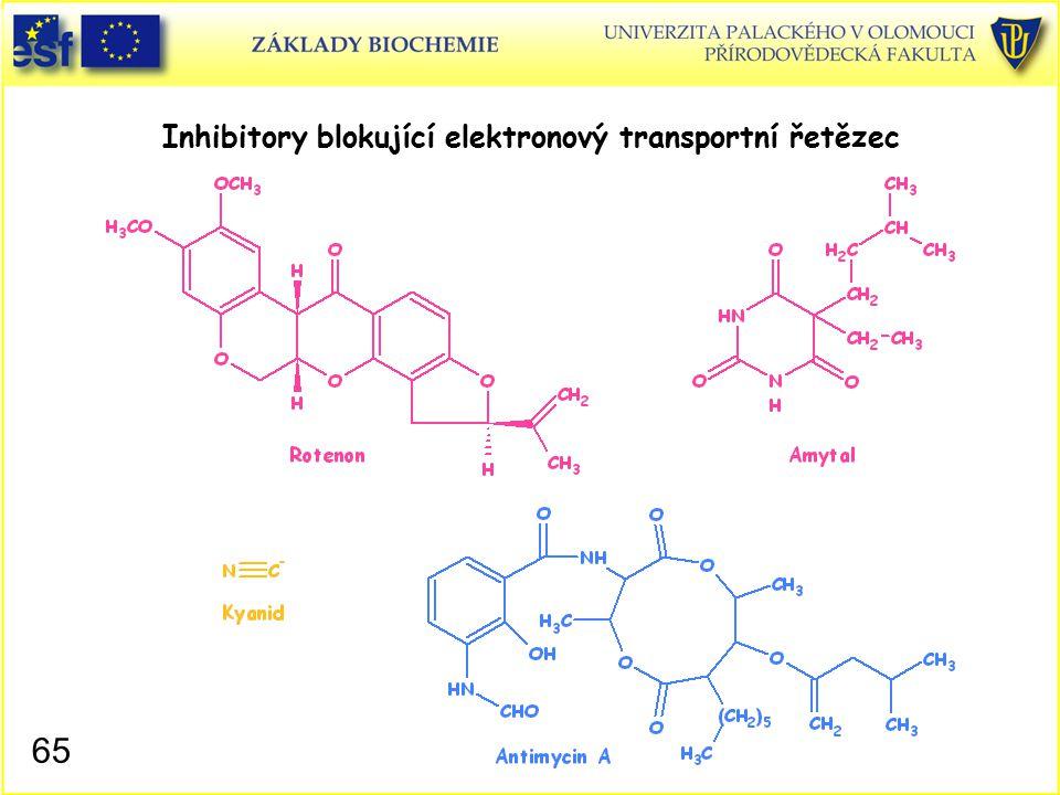 Inhibitory blokující elektronový transportní řetězec 65