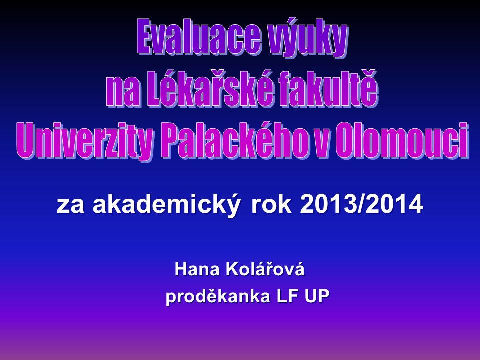 za akademický rok 2013/2014 Hana Kolářová proděkanka LF UP