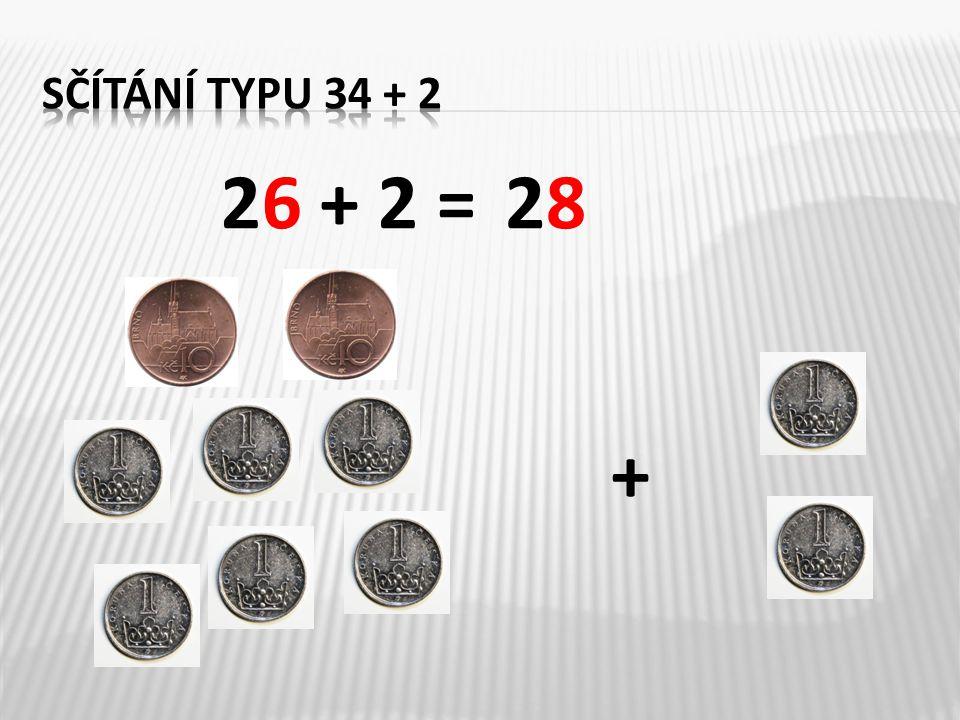 Znázorni pomocí desítek a jednotek: 42 + 3 = ___71 + 4 = ___ 4 10 1 1 1 1 1 1 1 1 4575 1 1