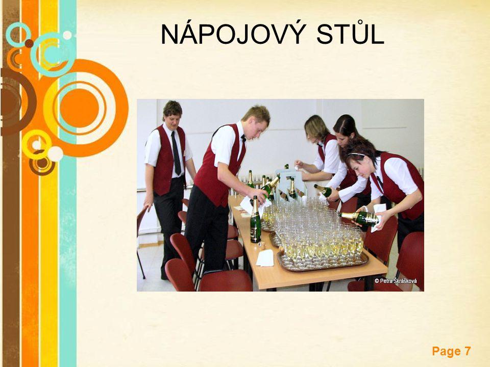 Free Powerpoint Templates Page 8 ODKLÁDACÍ A KUŘÁCKÉ STOLKY dále je nutné připravit odkládací stolky na použitý inventář a kuřácké stolky, které prostíráme jako jídelní stoly, rozmísťujeme je do prostorů pro hosty, nejlépe kolem stěn stoly a židle, popř.