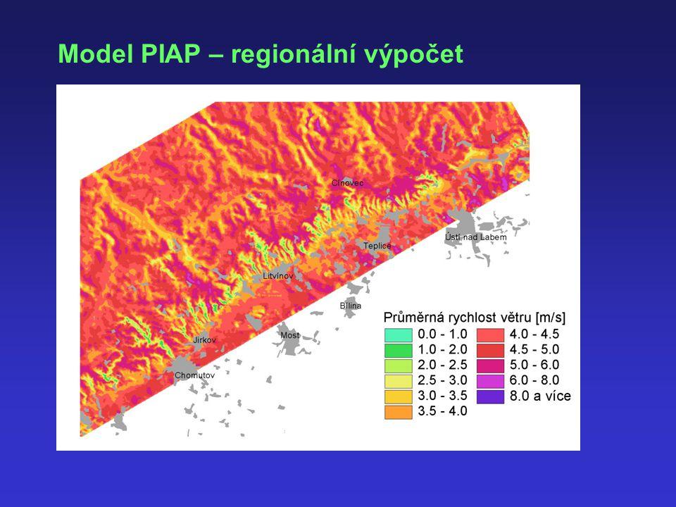 Model PIAP – regionální výpočet