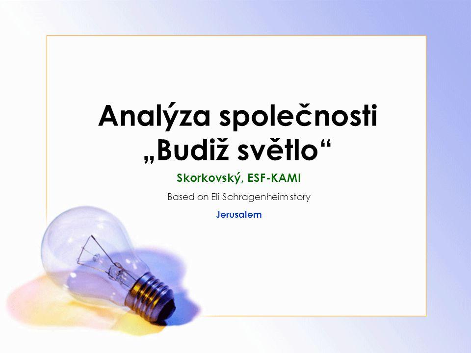 """Analýza společnosti """"Budiž světlo"""" Skorkovský, ESF-KAMI Based on Eli Schragenheim story Jerusalem"""