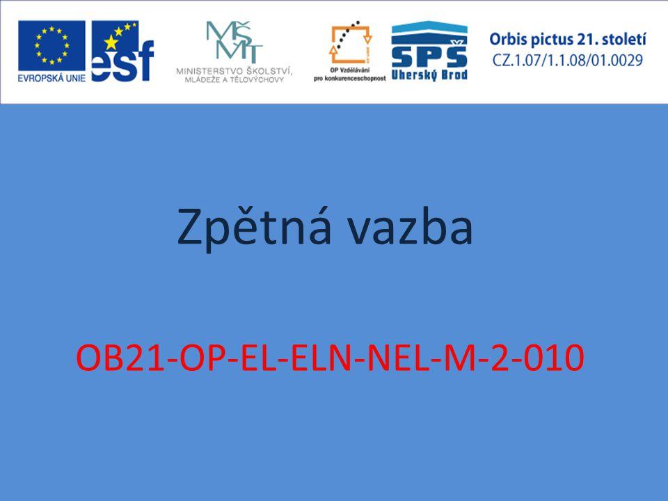 Zpětná vazba OB21-OP-EL-ELN-NEL-M-2-010