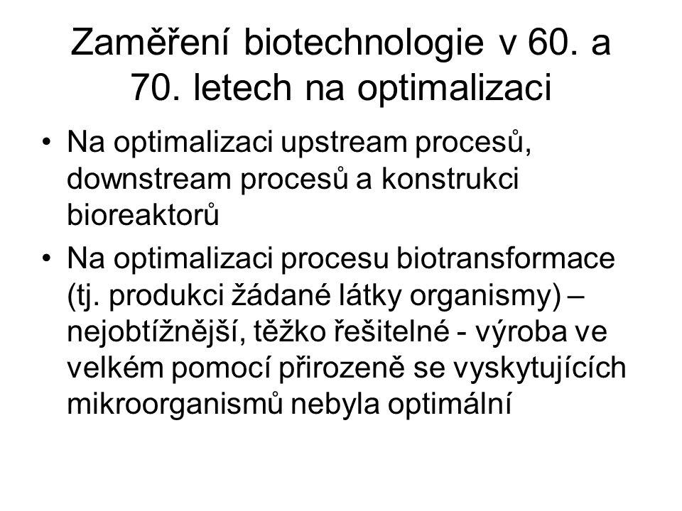 Zaměření biotechnologie v 60. a 70.