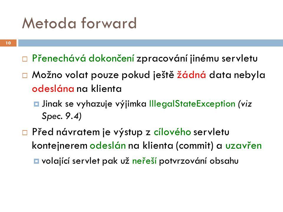 Příklad – forward 11