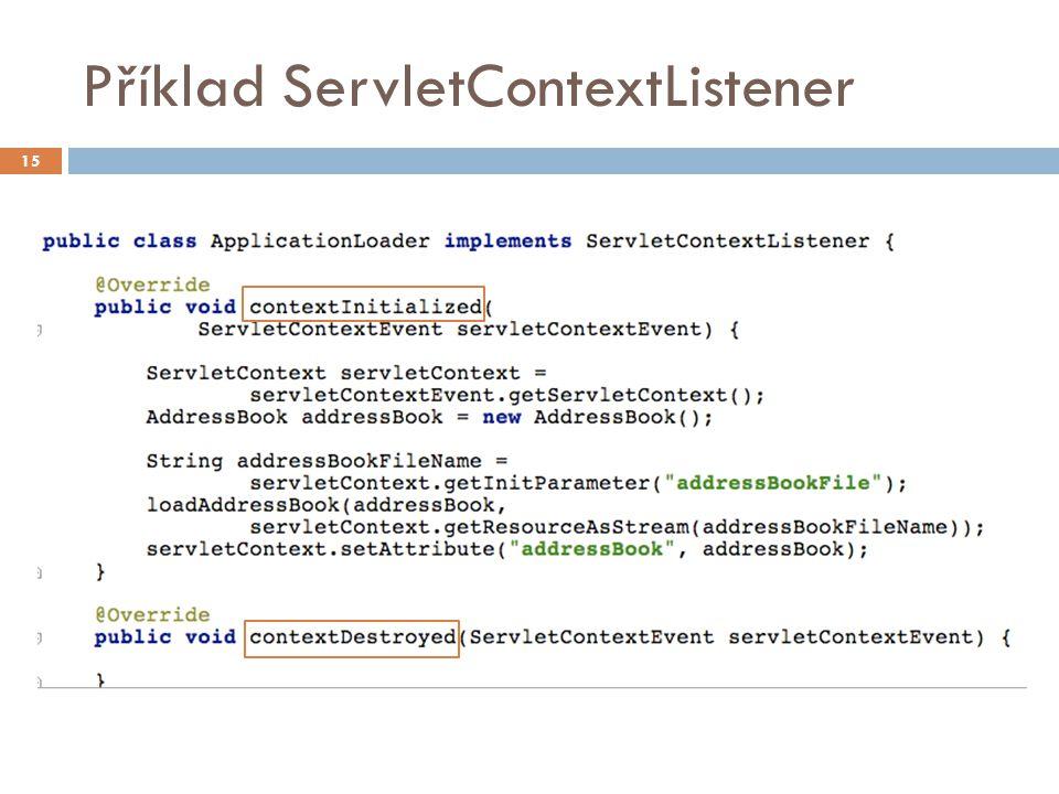 Příklad ServletContextListener 15