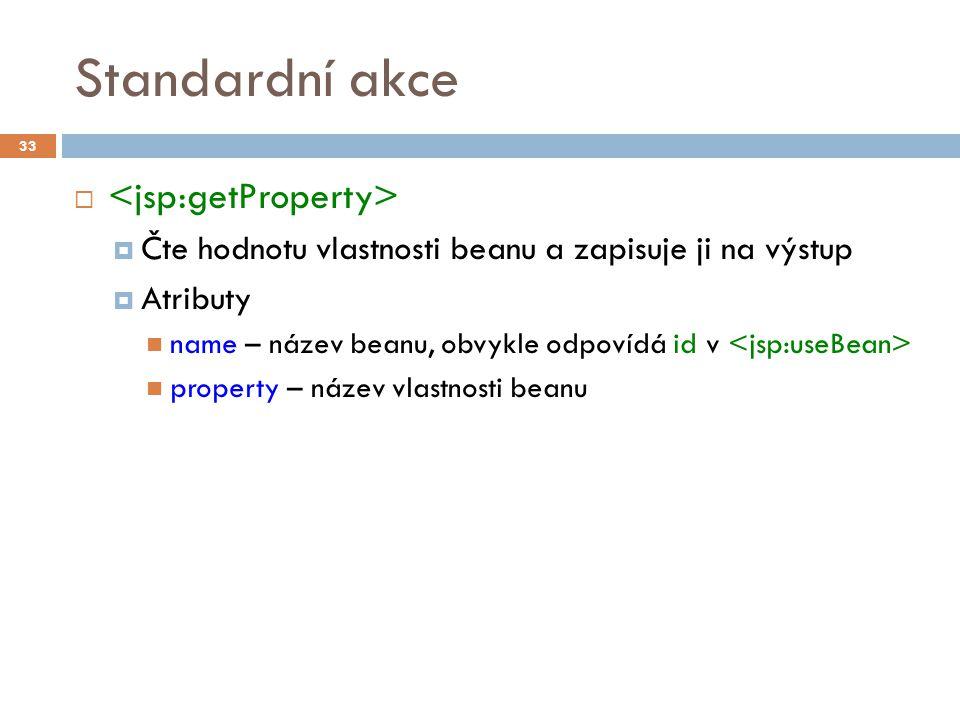 Standardní akce - příklad 34