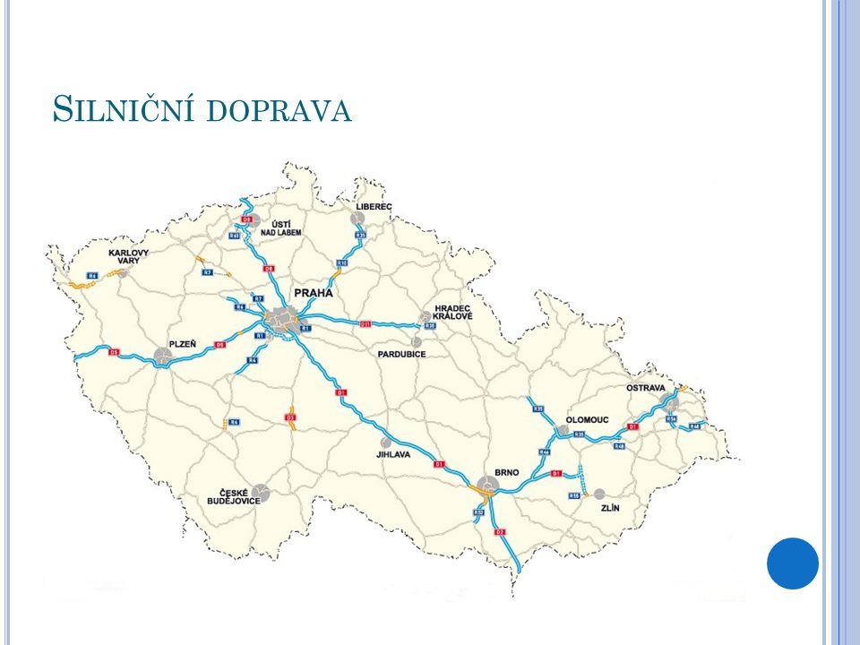 Ž ELEZNIČNÍ DOPRAVA hustá síť technicky zaostalá, pomalá napojena na Evropský dopravní systém hlavní úseky:  (Německo)- Děčín- Praha- Česká Třebová- Brno- Břeclav- (Vídeň)  (Vídeň)- Břeclav- Přerov- Ostrava- (Polsko)