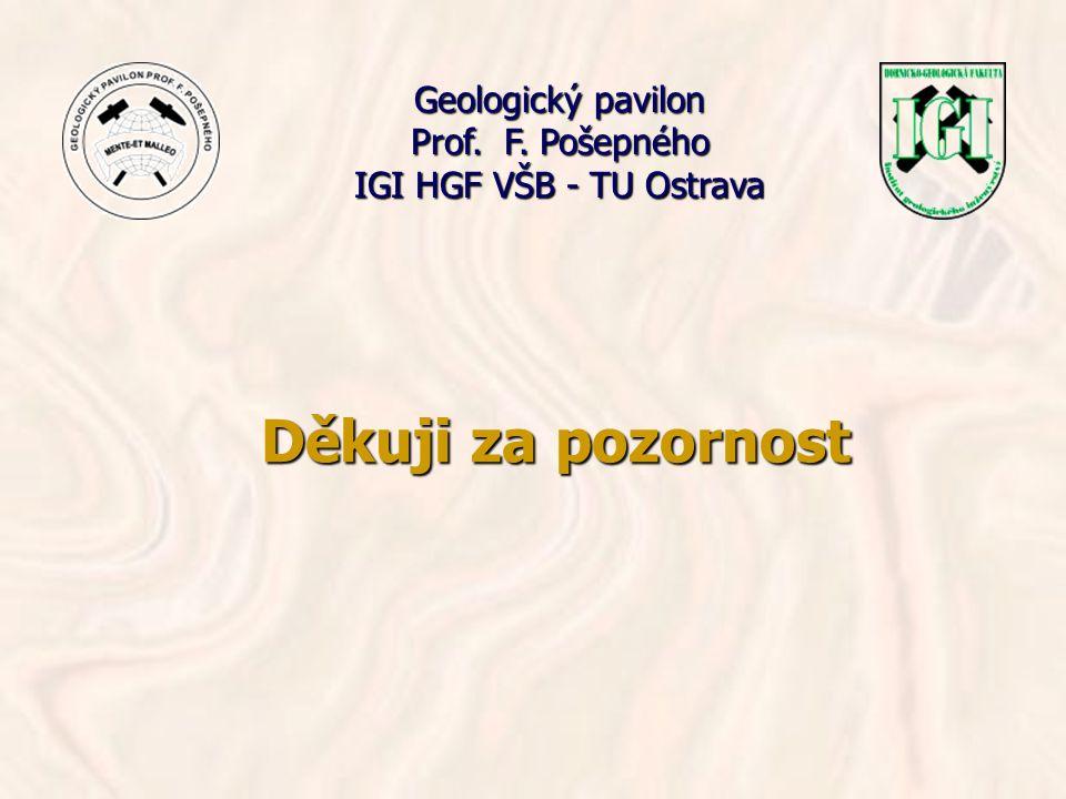 Děkuji za pozornost Geologický pavilon Prof. F. Pošepného IGI HGF VŠB - TU Ostrava