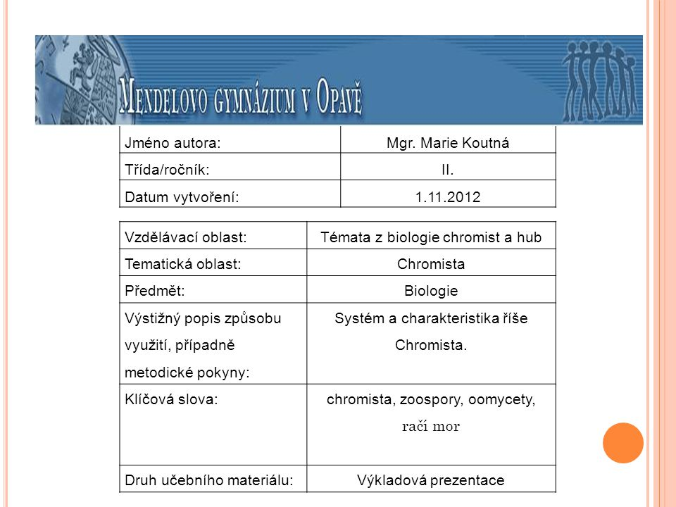 Chromista II.