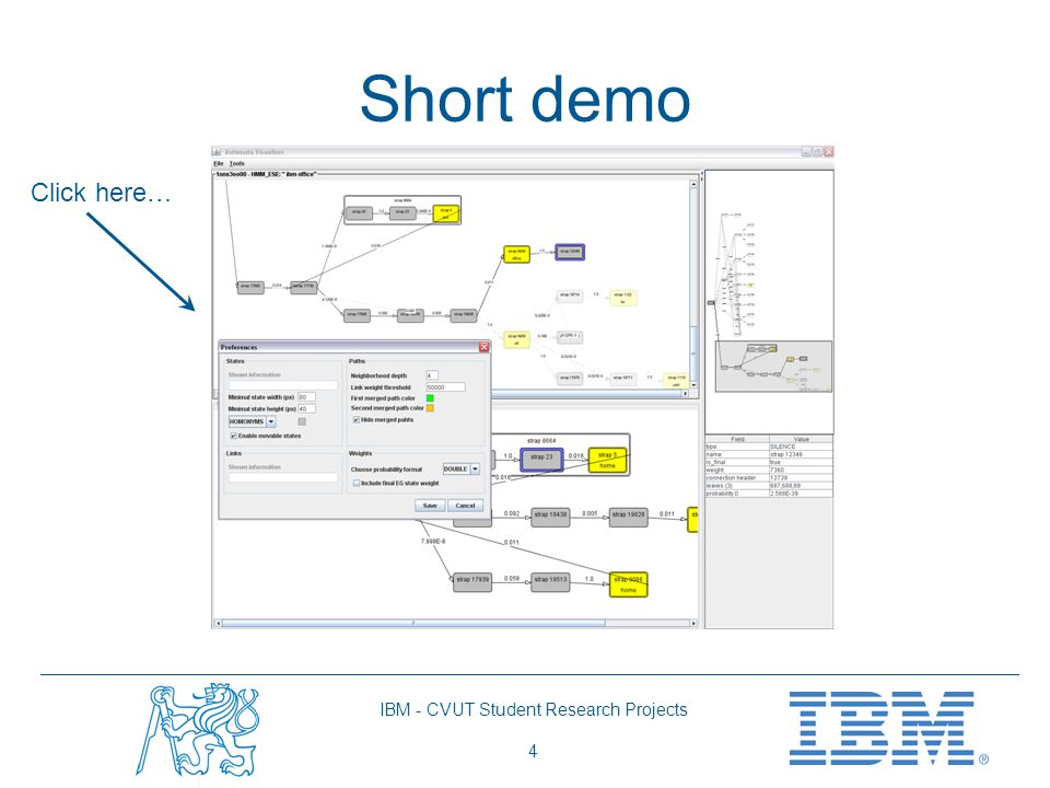 IBM - CVUT Student Research Projects 4 Short demo Click here…