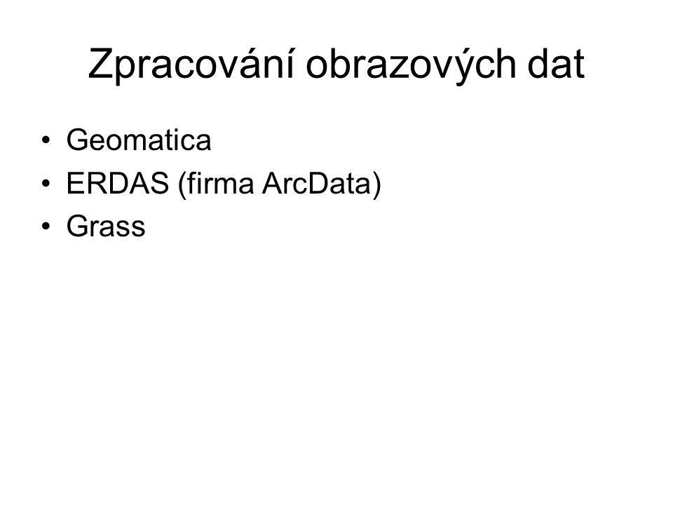 Zpracování obrazových dat Geomatica ERDAS (firma ArcData) Grass