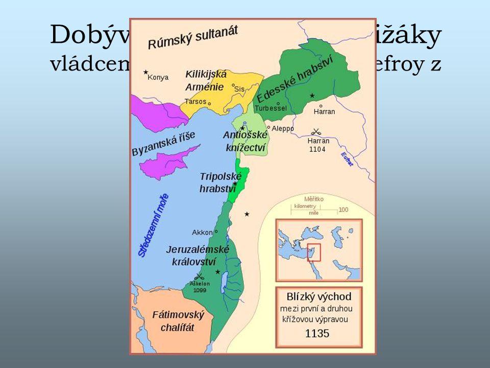 Dobývání Jeruzaléma křižáky vládcem křižáckého státu Godefroy z Bouillonu