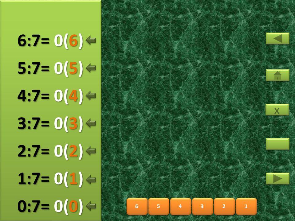 8 8 9 9 10 11 12 13 7 7 1(5) 7:7= 7:7= 1(0) 8:7= 8:7= 1(1) 9:7= 9:7= 1(2) 10:7= 1(3) 11:7= 1(4) 12:7= x x 1(6) 13:7=