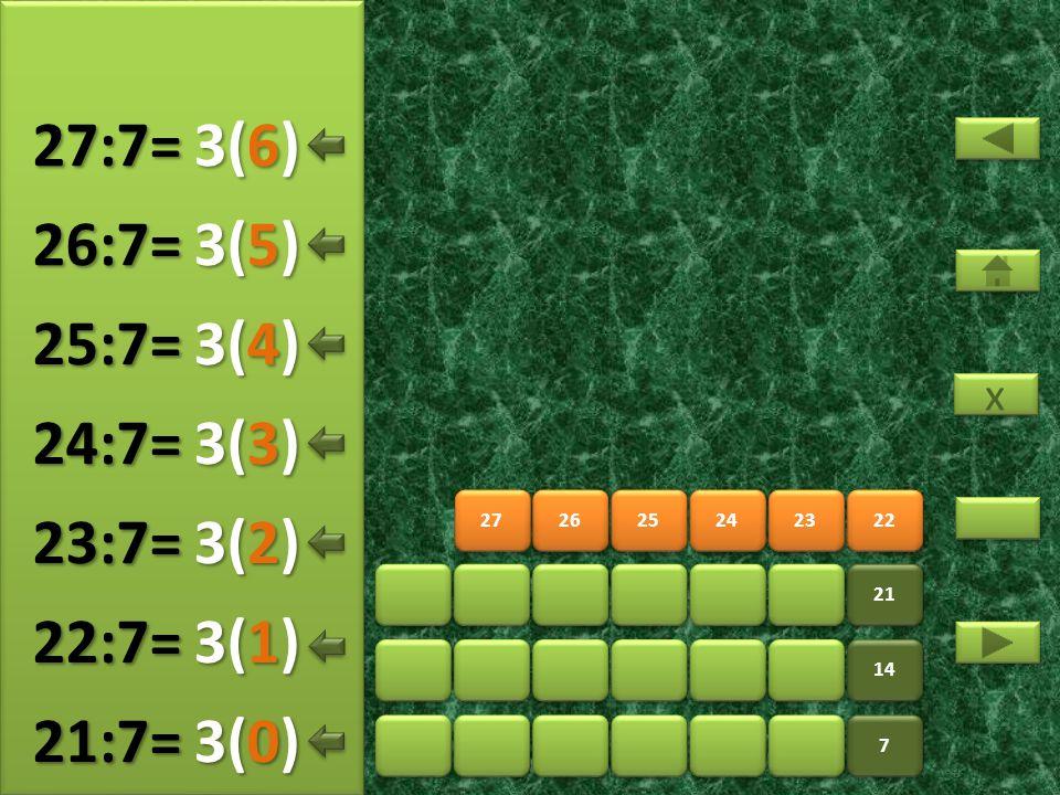 29 30 31 32 33 34 7 7 14 21 28 4(5) 28:7= 4(0) 29:7= 4(1) 30:7= 4(2) 31:7= 4(3) 32:7= 4(4) 33:7= x x 4(6) 34:7=