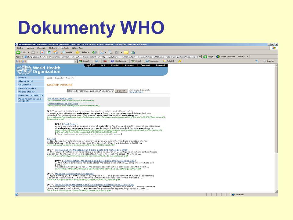 Dokumenty WHO