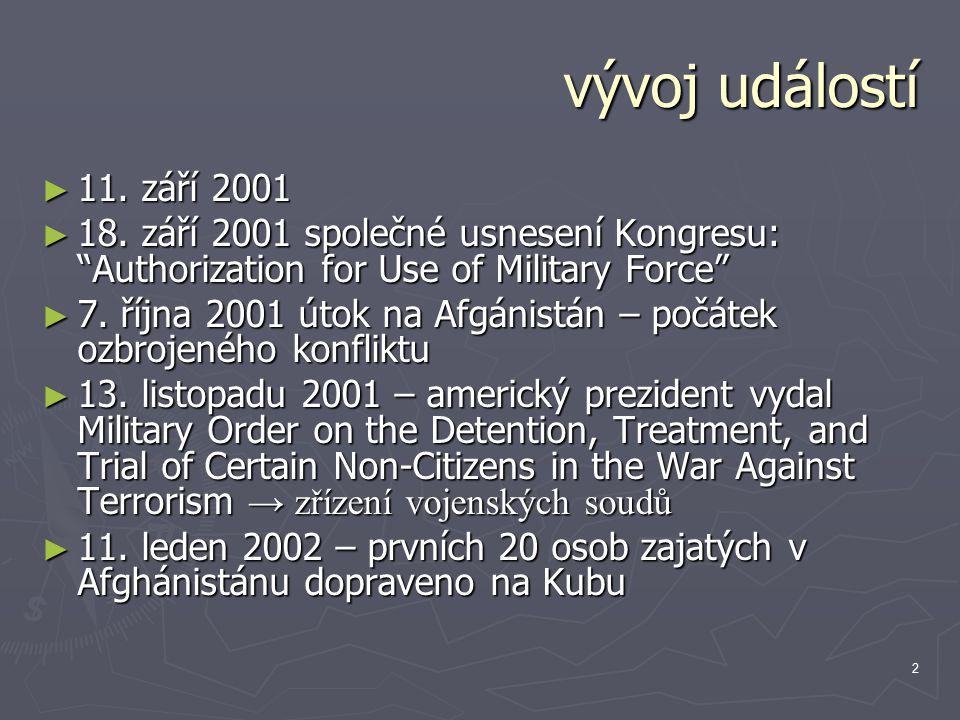 2 vývoj událostí ► 11. září 2001 ► 18.