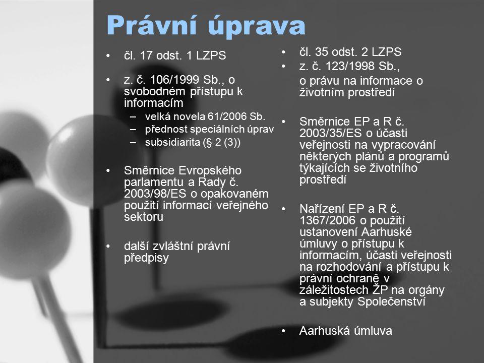 Právní úprava čl. 17 odst. 1 LZPS z. č.