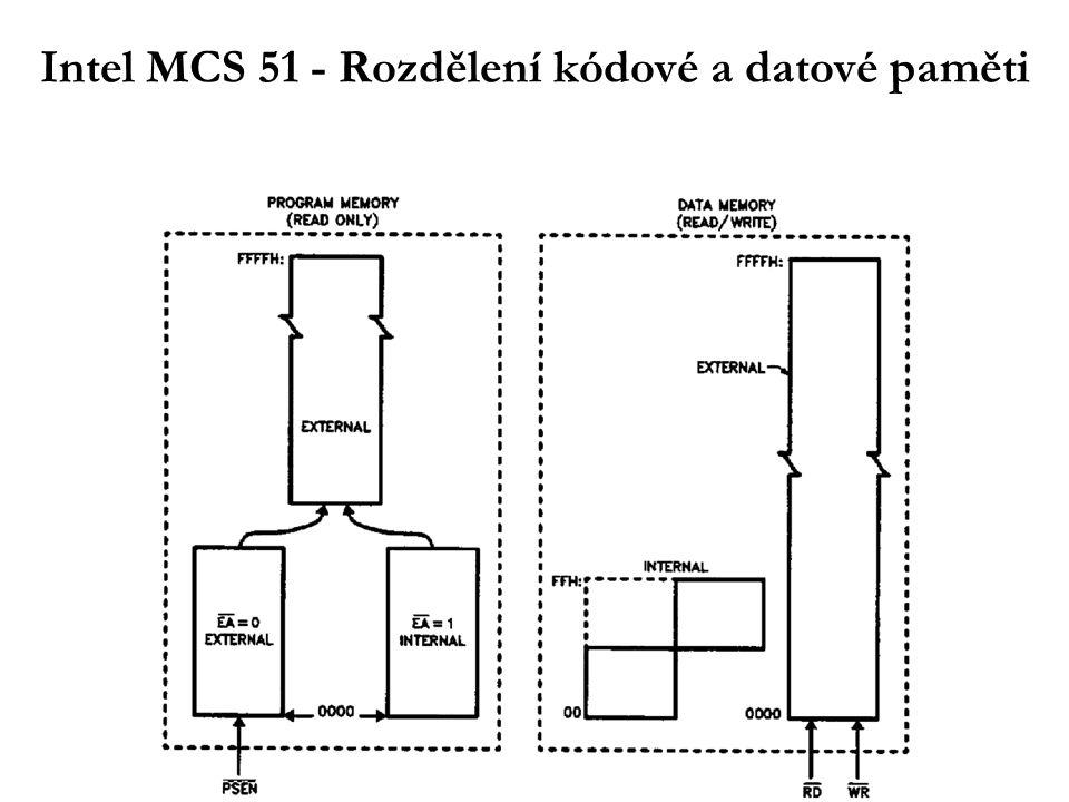 Intel MCS 51 - Rozdělení kódové a datové paměti