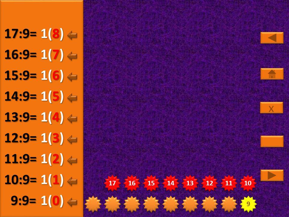 9 9 18 19 20 21 22 23 24 25 26 2(5) 18:9= 2(0) 19:9= 2(1) 20:9= 2(2) 21:9= 2(3) 22:9= 2(4) 23:9= x x 2(6) 24:9= 2(7) 25:9= 2(8) 26:9=