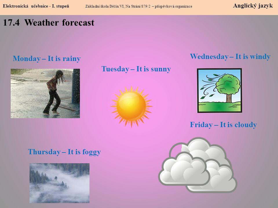 17.4 Weather forecast Elektronická učebnice - I.