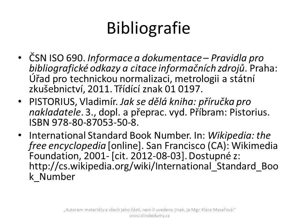 """""""Autorem materiálu a všech jeho částí, není-li uvedeno jinak, je Mgr."""