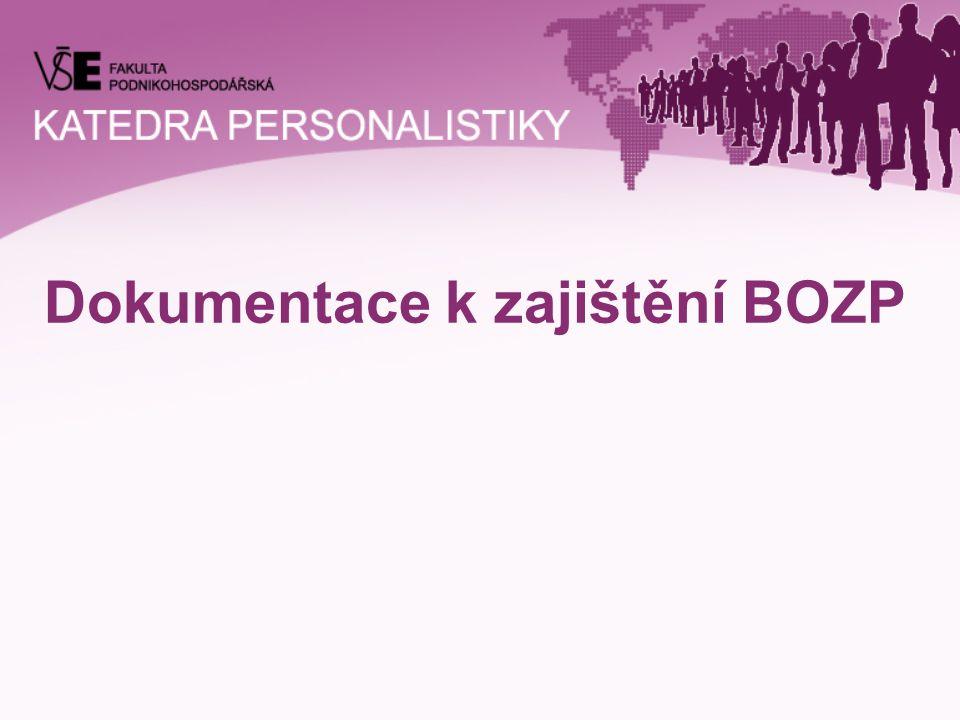 Dokumentace k zajištění BOZP