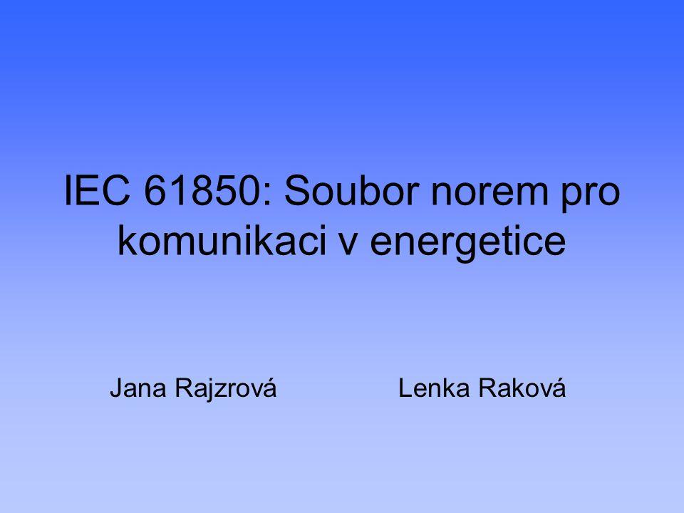 IEC 61850: Soubor norem pro komunikaci v energetice Jana Rajzrová Lenka Raková