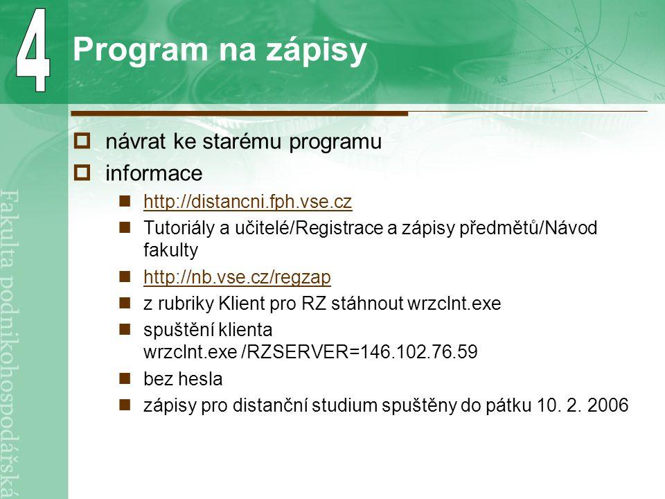 Ankety  k realizaci ECTS http://fph.vse.cz/studium/ects/anketa.asp do středy 22.