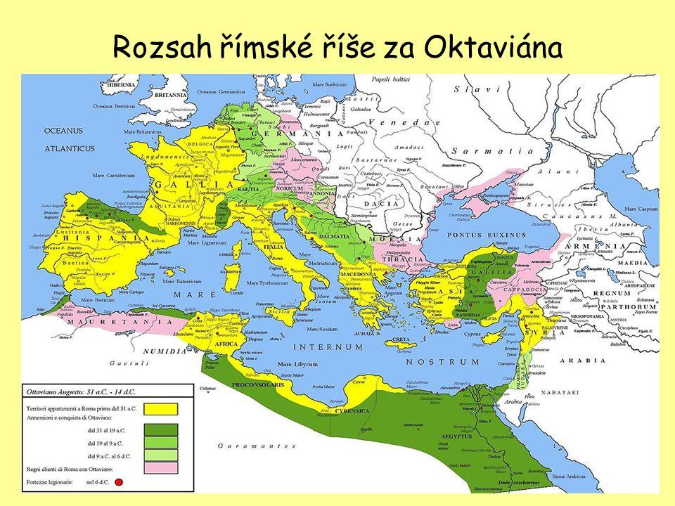 Rozsah římské říše za Oktaviána