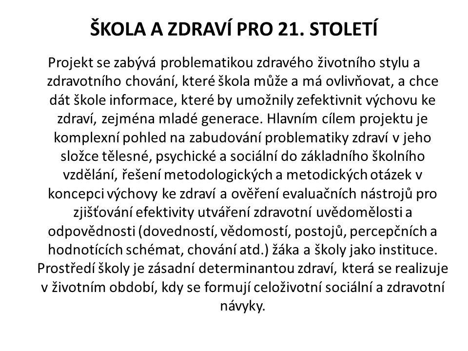 ŠKOLA A ZDRAVÍ PRO 21.