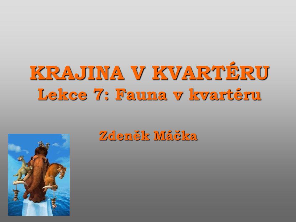KRAJINA V KVARTÉRU Lekce 7: Fauna v kvartéru Zdeněk Máčka