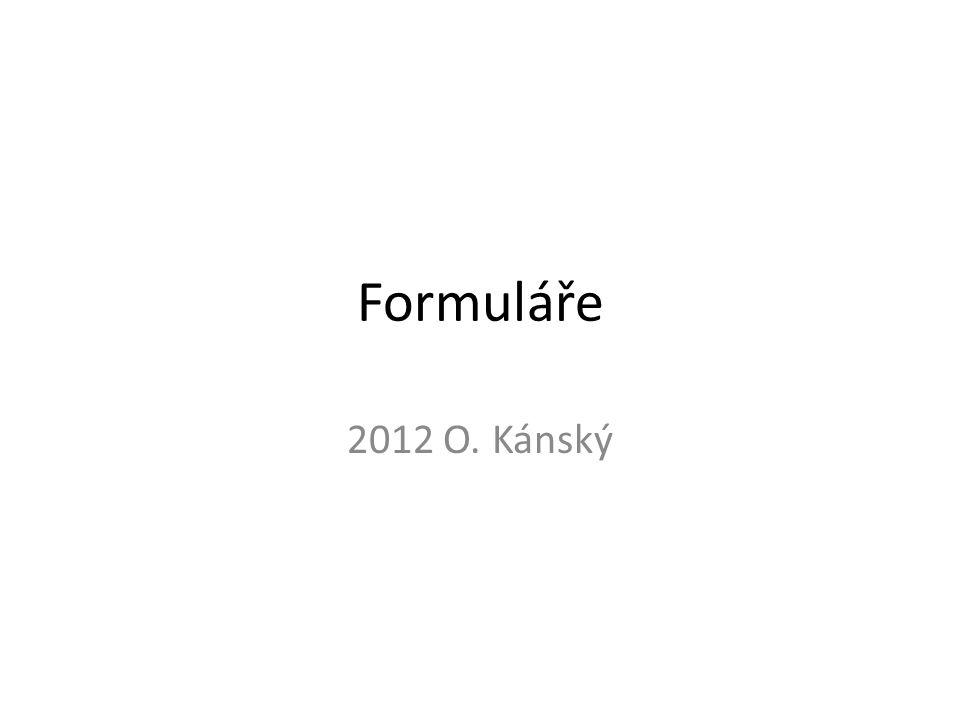 Formuláře 2012 O. Kánský