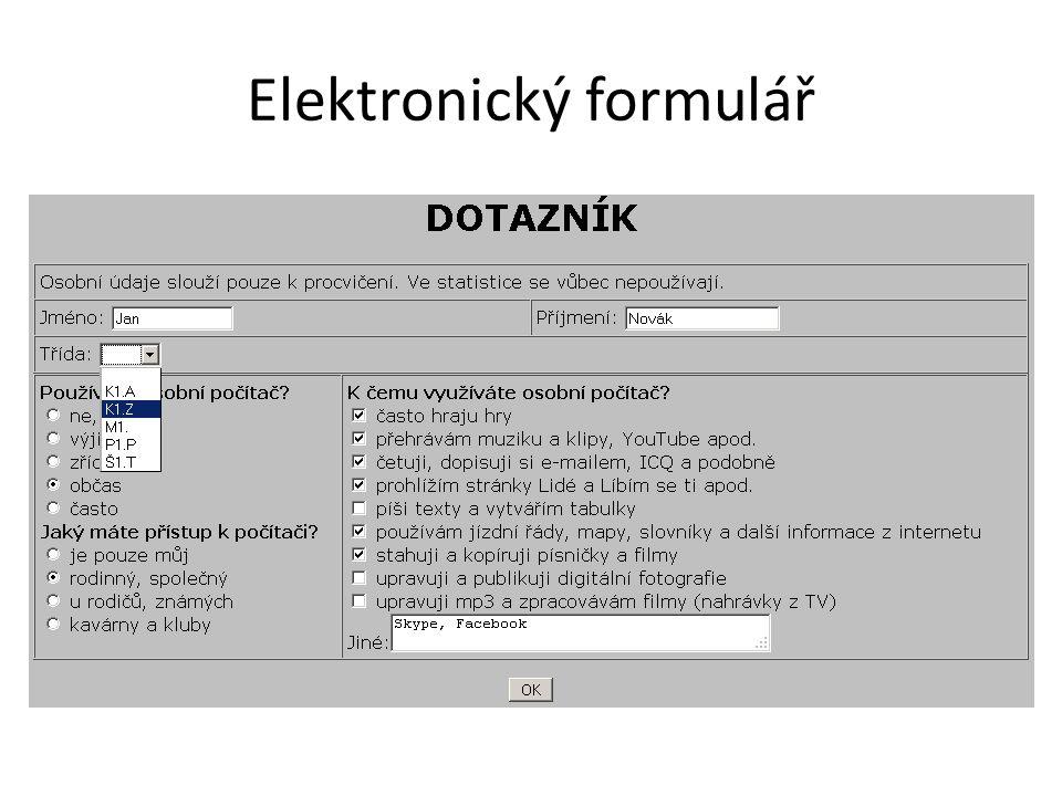 Elektronický formulář
