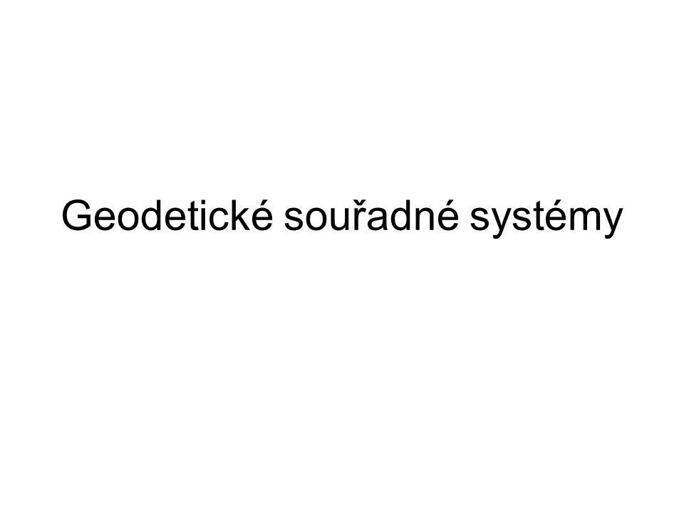 Geodetické souřadné systémy
