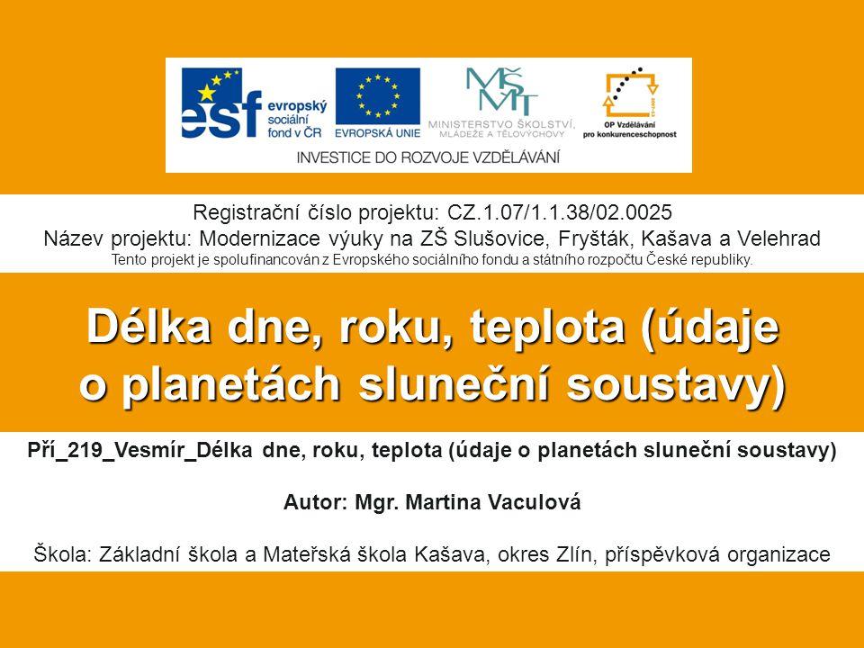 Vlastní práce: Další zdroje:  MLADÁ, Jarmila, Ladislav PODROUŽEK, Miroslav RANDA a Martin ŠOLC.