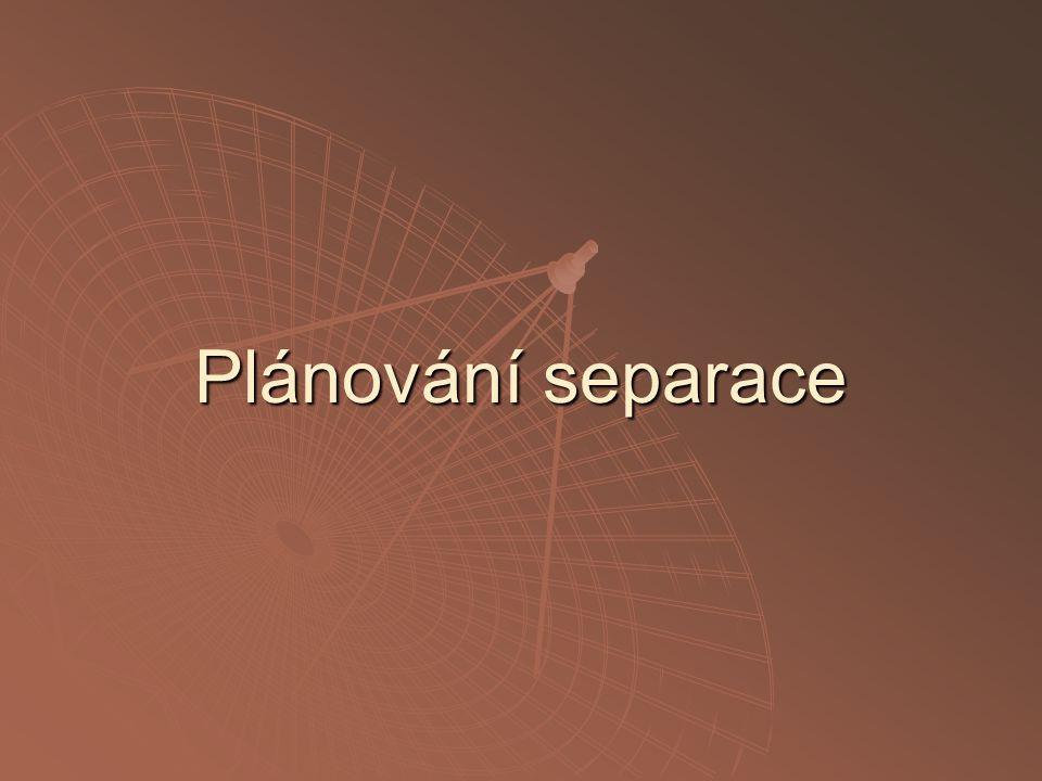 Plánování separace
