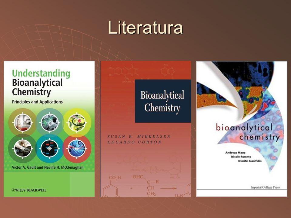 Literatura  Anzenbacher, Kovář : Metody chemického výzkumu pro biochemiky.