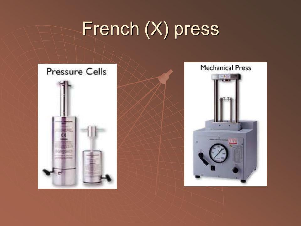 French (X) press