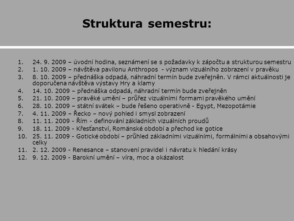 Struktura semestru: 1.24.9.