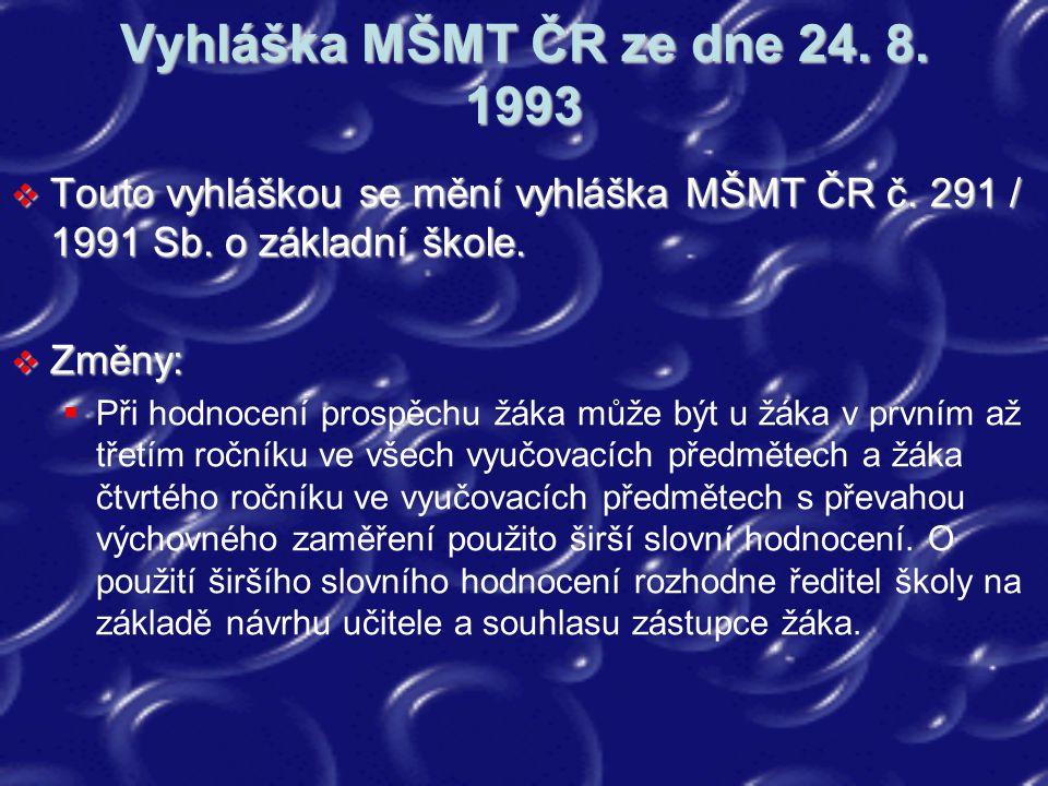 Metodický pokyn MŠMT č.j.