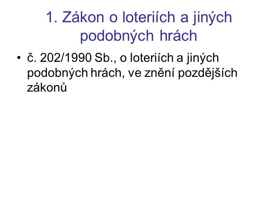 Literatura Zákon o loteriích a jiných podobných hrách –(IS – tučně označeno důležité) http://www.mfcr.cz/cps/rde/xchg/mfcr/xsl/loterie.html http://www.mfcr.cz/cps/rde/xchg/mfcr/xsl/loterie_32713.h tmlhttp://www.mfcr.cz/cps/rde/xchg/mfcr/xsl/loterie_32713.h tml Doporučená –http://sport.idnes.cz/sporty.asp?r=sporty&c=A060306_221731_sporty_r ouhttp://sport.idnes.cz/sporty.asp?r=sporty&c=A060306_221731_sporty_r ou