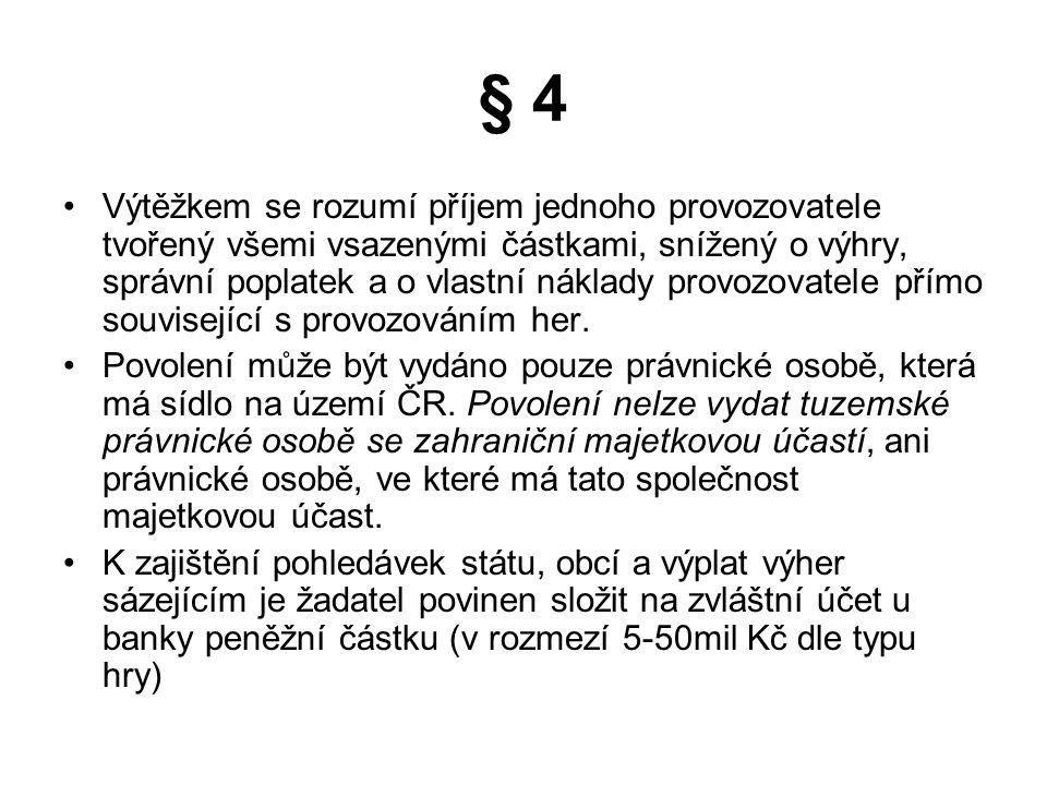 Český trh kamenných sázkových kanceláří 10 tis.