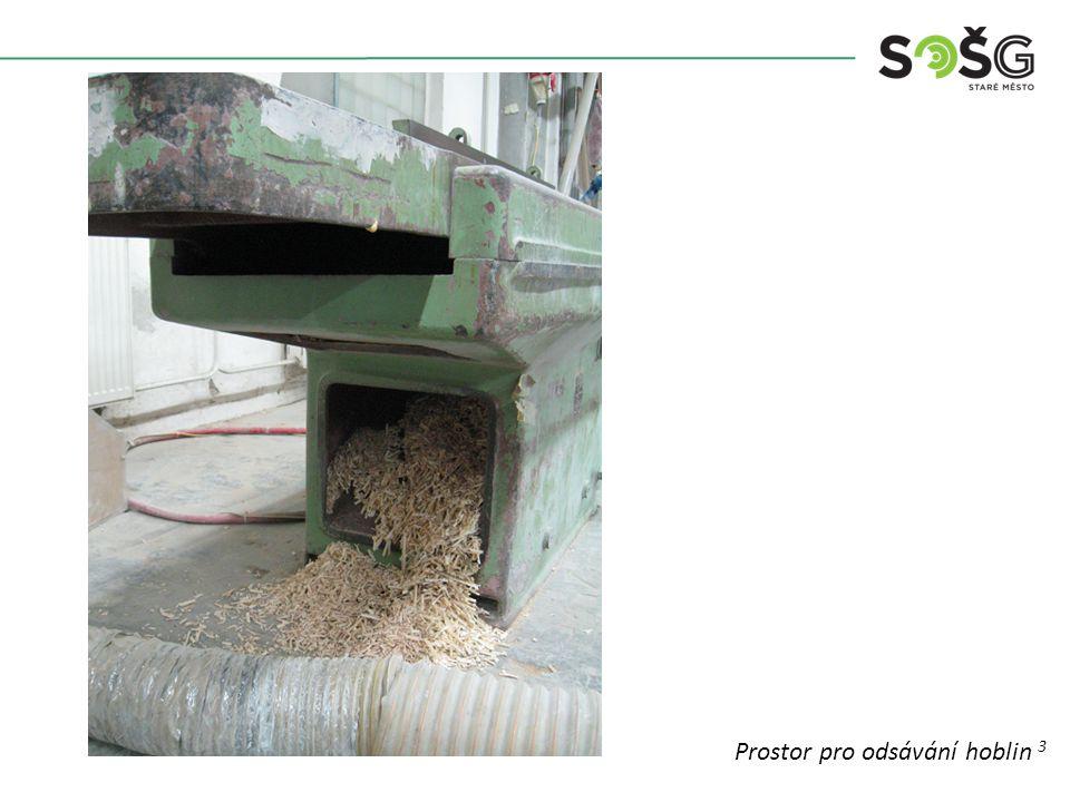 Vícekotoučová rozřezávací pila PWR 201 TOS Svitavy - detail Prostor pro odsávání hoblin 3