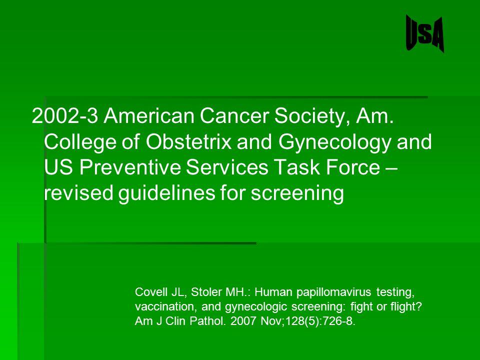 2002-3 American Cancer Society, Am.
